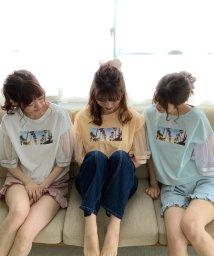 MAJESTIC LEGON/ボリュームチュールTシャツ/502968886