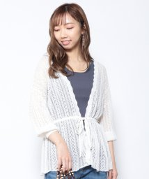 Cheek/透かし柄編みカーディガン/503174537