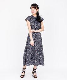 axes femme/シャーリングデザインワンピース/503261470