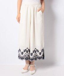 axes femme/【セットアップ対応商品】裾刺繍ワイドパンツ/503261474