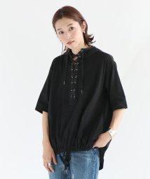 LASUD/[LASUD] 【手洗い可】異素材レースアップパーカー/503270804