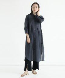 LASUD/[RADIATE] 【手洗い可】シアー ステッチデザイン ロングシャツ/503270811