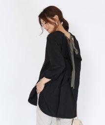 SCOTCLUB/FENNEL(フェンネル) 【手洗い可】バックリボンラッフルオーバーシャツ/503270837