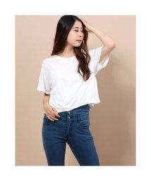 Rename/リネーム Rename バッククロスオープンデザインTシャツ (ホワイト)/503272540
