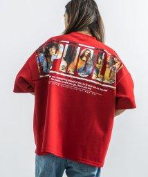 Rocky Monroe/Tシャツ メンズ レディース 半袖 ビッグシルエット 絵画 フォト プリント コラージュ モナリザ 落穂拾い 最後の晩餐 ダヴィンチ ポンチ素材 カジュアル ス/503275729