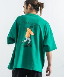 Rocky Monroe/Tシャツ メンズ レディース 半袖 ビッグシルエット プリント スケーター キックボード カジュアル ストリート ルーズ ボックス 綿 コットン ポンチ素材 重/503275731