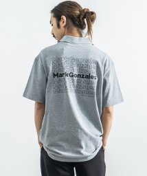 Rocky Monroe/MARK GONZALES マークゴンザレス ポロシャツ 半袖 メンズ レディース ビッグシルエット カジュアル ストリート シンプル 綿 コットン プリント /503275735
