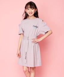 JENNI love/ベルト付き肩開きワンピ/503275943