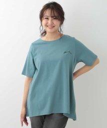 eur3/【涼しげ/大きいサイズ】みんなで選んだ応援Tシャツ!ワンポイントチュニックTシャツ/503278300