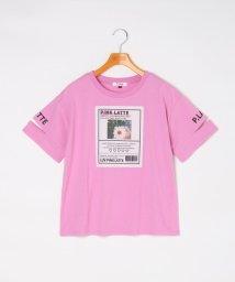 PINK-latte/フォトタグ風Tシャツ/503279061
