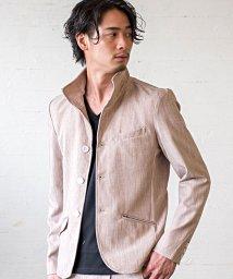 CavariA/CavariA【キャバリア】MIXツイルイタリアンカラー長袖ジャケット/503279812