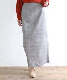 SILKY/グレンチェックタイトスカート/503280567