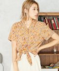SILKY/花柄裾結びシャツ/503280568