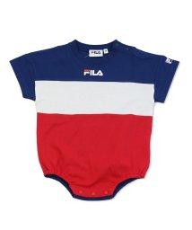 FILA/FILA/フィラ ロゴ3段切り替え半袖ロンパース/503280855