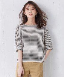 J.PRESS LADIES/【洗える】デラヴェボーダー 五分袖Tシャツ/503281165