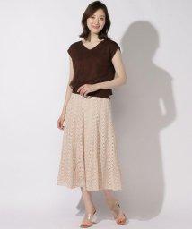 And Couture/ケミカルフラワーレースフレアスカート/503129212