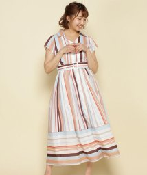 And Couture/【andGIRL5月号掲載】スパローンストライプシャツワンピース/503129256