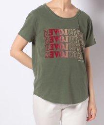 en recre/【LEON & HARPER】グラデーションカラーロゴTシャツ/503260316