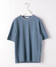 green label relaxing/CSM コットン ラミー ストライプ クルーネック 半袖 Tシャツ カットソー/503260367