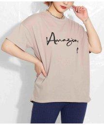 Settimissimo/英字プリントバックロングデザインTシャツ/503281314