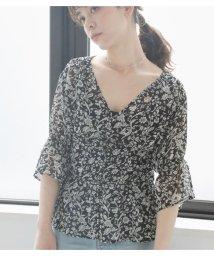 Avan Lily/NELLIE FLOWERペプラムブラウス/503281812
