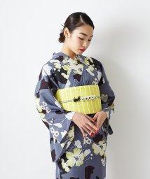 FURIFU/浴衣「芙蓉と猫」/ 夏・着物・単衣・花火・祭・納涼船/503200502