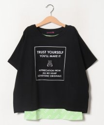 Lovetoxic/ボックスロゴバック切り替えTシャツ×総柄タンクトップセット/503260454