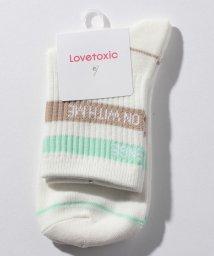 Lovetoxic/ライン×ロゴクルーソックス/503260457