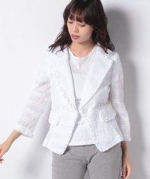 MADAM JOCONDE/シャーリング刺繍ジャケット/503275509