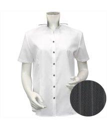 BRICKHOUSE/ワイシャツ 半袖 形態安定 マイター スキッパー衿 綿100%/503283868