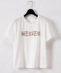 GRACE CONTINENTAL/ビーズ刺繍ロゴTシャツ/503284056