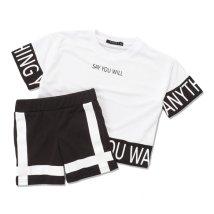NEXT WALL/「420-05」キッズ BIGTシャツ ハーフパンツ セットアップ 子供服 半袖 5分袖 半ズボン 男の子 女の子 /503284534