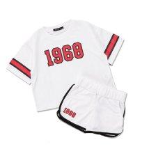 NEXT WALL/「420-06」キッズ BIGTシャツ ハーフパンツ セットアップ 子供服 半袖 5分袖 半ズボン 男の子 女の子 /503284535
