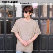 NEXT WALL/「SJ20-104」メンズ Tシャツ ティーシャツ BIGサイズ ビッグ 大きめ ゆったり 半袖 無地Tシャツ ポケット /503284587