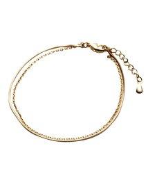 cream dot/華奢なスネークチェーンの2連ブレスレット/503285040