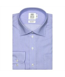 BRICKHOUSE/形態安定 ノーアイロン 半袖ワイシャツ ワイド ブルー×白ストライプ/503285658