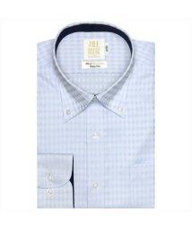 BRICKHOUSE/形態安定 ノーアイロン 半袖ワイシャツ ボタンダウン サックス/503285660