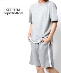 MARUKAWA/【セットアップ】半袖T&ショーツ スムース フェイクレイヤード Tシャツ & ショーツ  上下セット/ ルームウェア 部屋着 おうち リラックスウェア パジャマ/503246841