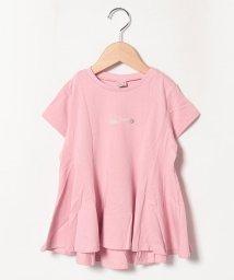 petit main/チビロゴAラインタックTシャツ/503267848