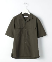 green label relaxing/ドットエアー サッカー オープンカラー 半袖 シャツ < 機能性 / 吸水速乾 ・ 伸縮性 >/503267941