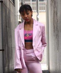 atmos pink/アトモスピンク サテン セットアップ ジャケット/503279441