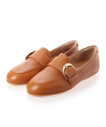 FITFLOP/フィットフロップ fitflop LISBET D-BUCKLE LEATHER LOAFERS (Light Tan)/503289404