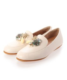 FITFLOP/フィットフロップ fitflop LENA UNDER THE SEA LEATHER LOAFERS (Stone)/503289409