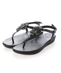 FITFLOP/フィットフロップ fitflop TIA CORSAGE BACK-STRAP SANDALS (All Black)/503289412
