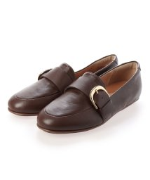FITFLOP/フィットフロップ fitflop LISBET D-BUCKLE LEATHER LOAFERS (Chocolate Brown)/503289413