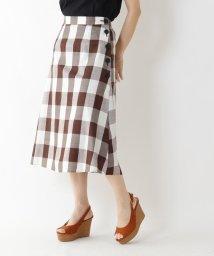 AG by aquagirl/【洗える】ブロックチェック柄スカート/503290303