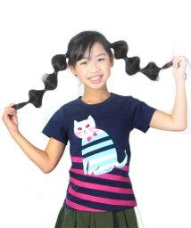 UNICA/ニャンボーダーTシャツ100~140/503290353