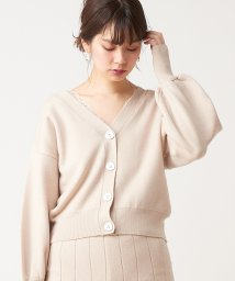 NICE CLAUP OUTLET/【natural couture】変形釦カーディガン/503278948