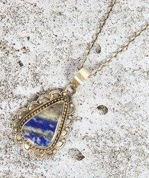 WYTHECHARM/【フランス買付】ラピスラズリ装飾しずく型ネックレス/503290931