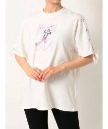 EATME/レースアップスリーブグラフィックTシャツ/503291069